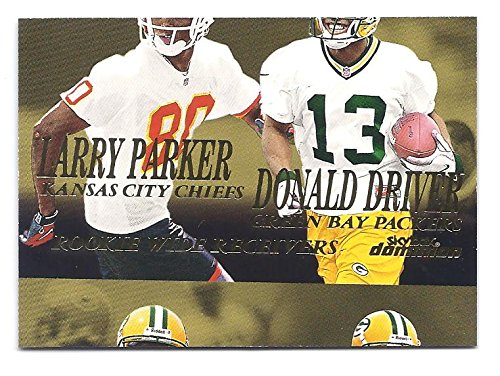 DONALD DRIVER LARRY PARKER 1999 Skybox Dominion #249 Misscut ERROR Rookie Card RC Green Bay Packers Kansas City Chiefs Football