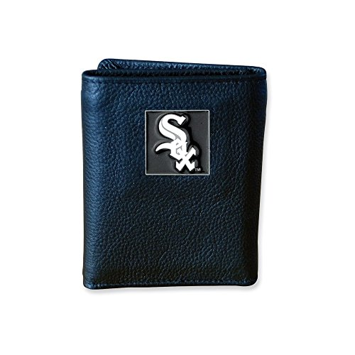 ICE CARATS MLB Siskiyou Buckle Chicago White Sox Tri Fold Wallet Man Fashion Jewelry Gift for Dad Mens for Him