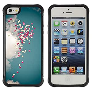 LASTONE PHONE CASE / Suave Silicona Caso Carcasa de Caucho Funda para Apple Iphone 5 / 5S / angel heart purple sky god love Jesus