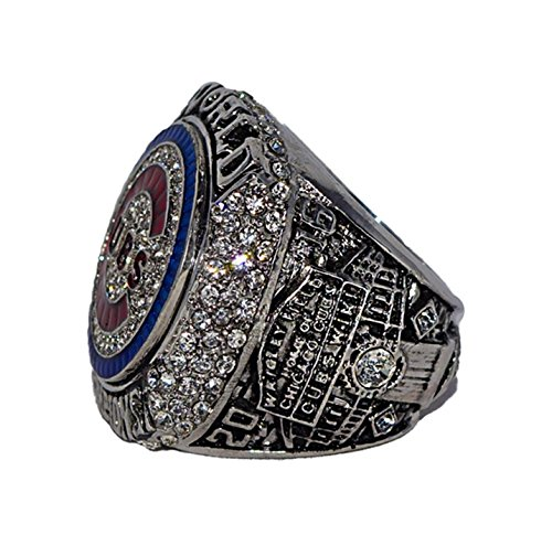 CHICAGO CUBS (Kris Bryant) 2016 WORLD SERIES CHAMPIONS (Ending the Curse of the Billy Goat) Wrigley Field Rare & Collectible High Quality Replica MLB Baseball Silver Championship Ring