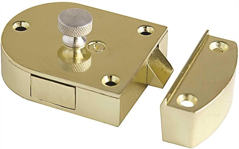 Major Secret Gate Latch - 2'' x 2-1/2'' (Sprayed Brass)