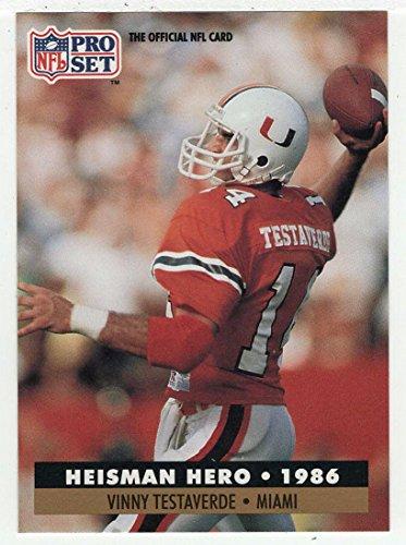 Vinny Football Testaverde (Vinny Testaverde (Football Card) 1991 Pro Set # 41)