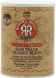 Reggie's Roast Organic, Fair Trade Whole Bean Coffee, 12-Ounce Cans (Pack of 3)