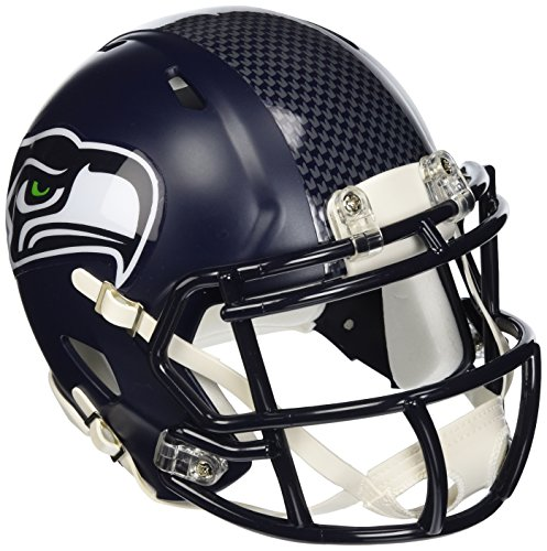 Riddell Mini Football Helmet - NFL Speed Seattle Seahawks (Revolution Football Helmet Nfl)
