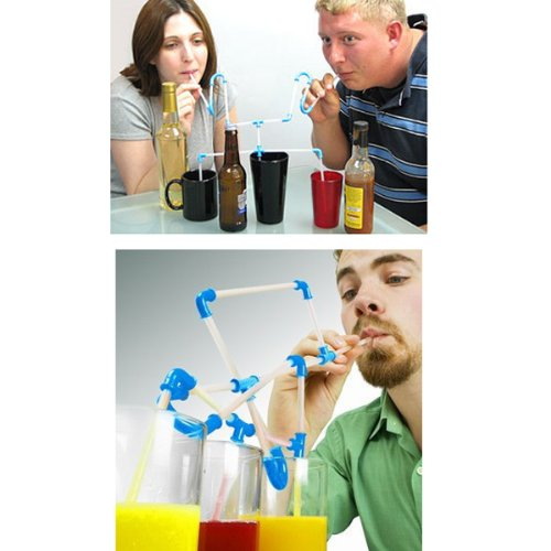 Creative DIY Silicon Transparent Crazy Lazyboots Straw .