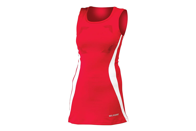 Eclipse II Hook & Loop Netball Dress - Red/White Gilbert