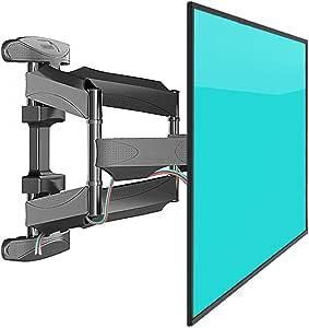 Soporte de montaje en pared para TV inclinable para la mayoría de los televisores con pantalla plana LED de 32-70 pulgadas, OLED, pantalla plana de plasma Colgador de TV giratorio de perfil