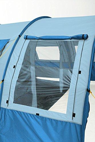 510NuYDKKVL CampFeuer Tunnelzelt Multi Zelt für 4 Personen | riesiger Vorraum, 5000 mm Wassersäule | mit Bodenplane und versetzbarer…