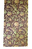 Corona Decor Extra-Wide Italian Woven Floral Table Runner, 95 by 26-Inch, Rust