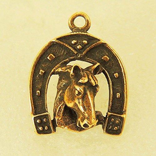 Pendant Small Horseshoe With A Horse (Charm Horseshoe Small)