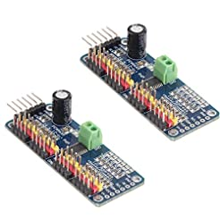 HiLetgo 2pcs PCA9685 16 Channel 12-Bit P...