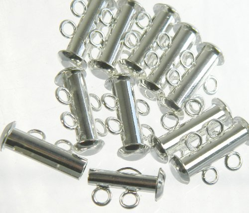 Multi Strand Clasps Silver Plated