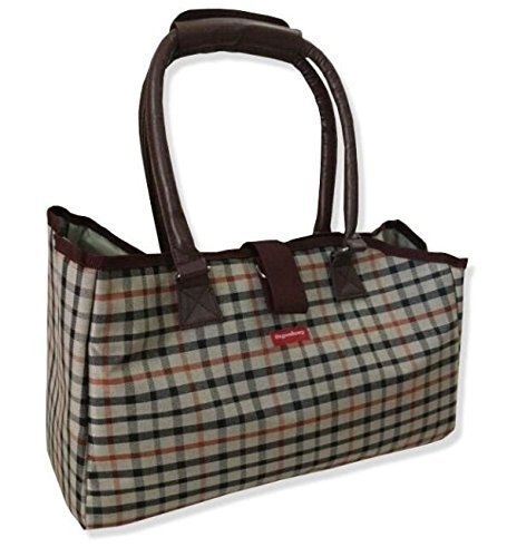 Osgoodway Pet Dog Cat Waterproof Tote Handbag Carrier So Cute, Plaid (Pet Plaid Carrier)