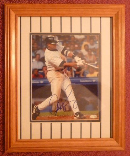 (ALEX RODRIGUEZ Home Run Swing SIGNED STEINER 8x10 PHOTO Framed)