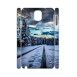 3D Samsung Galaxy Note 3 Cases Railroad Winter, Samsung Galaxy Note 3 Case - [White] Dustin