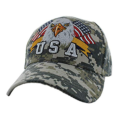 - American Patriotic USA Eagle Flag Baseball Adjustable Hat Cap