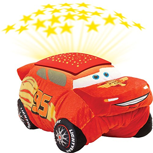 Pillow Pets Disney Pixar Cars Cars 3 Lightning McQueen Dream Lites Stuffed Animal Night (Disney Cars Pillow)
