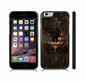 iStar Cases? iPhone 6 Case with American Flag on Wings Distressed Texture Flag , Snap-on Cover, Hard Carrying Case (Black)