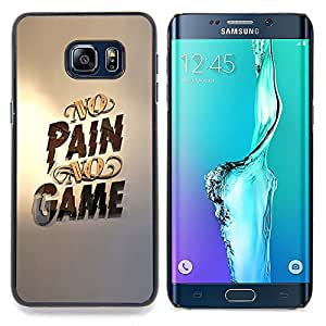 - No Pain No Game Gold Pc Gaming/ Duro Snap en el tel????fono celular de la cubierta - Cao - For Samsung Galaxy S6 Edge Plus