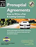 img - for Prenuptial Agreements : How to Write a Fair and Lasting Contract. (All Forms on CD-Rom) book / textbook / text book