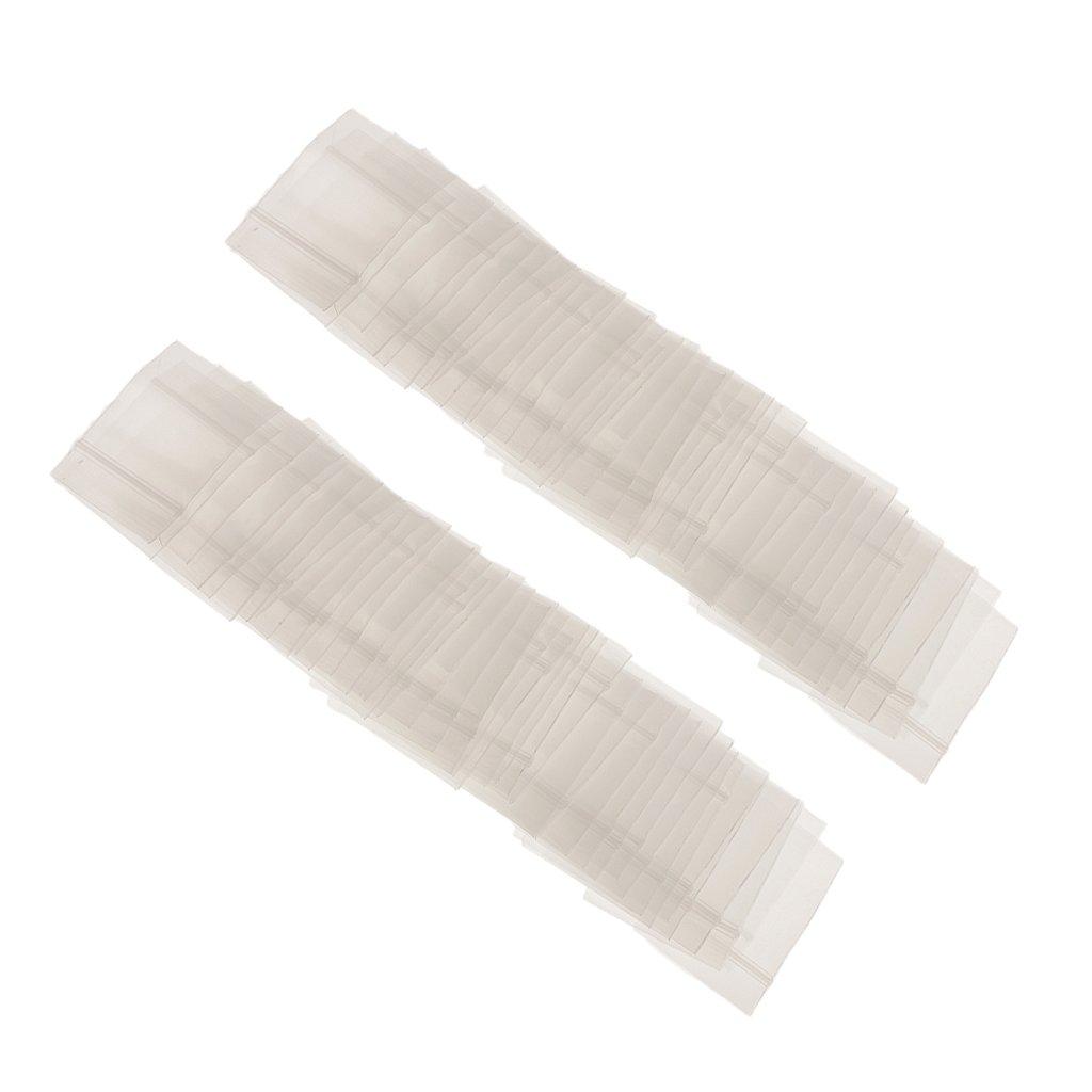 LOVIVER 100pcs Sacchetti di Plastica Trasparenti Richiudibili con Cerniera Single-track di Immagazzinaggio Sacchetto Sigillato