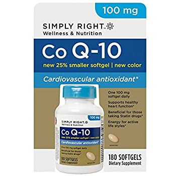 SCS Simply Right CoQ10 100mg Softgels - 180 ct.