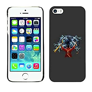 Be Good Phone Accessory // Dura Cáscara cubierta Protectora Caso Carcasa Funda de Protección para Apple Iphone 5 / 5S // Wizzard Witchcraft Art Fairytale Drawing Character