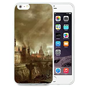 Beautiful Designed Antiskid Cover Case For iPhone 6 Plus 5.5 Inch Phone Case With Burning London United Kingdom_White Phone Case