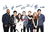 #6: Shadowhunters cast reprint signed 12x18 poster photo by all 7 #2 Mortal Instruments RP