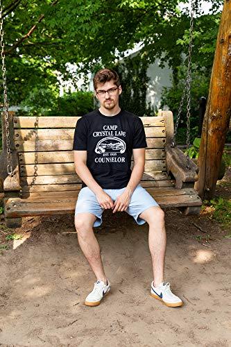 595dd7db270 Mens Camp Crystal Lake T shirt Funny Shirts Camping Vintage Horror Novelty  Tees