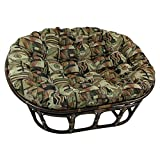 Blazing Needles Patterned Tapestry Double Papasan Chair Cushion, 48