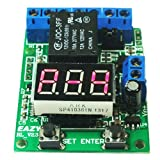 GEREE DC12V Multifunction Self-lock Relay PLC Cycle Timer Module Delay Time Switch