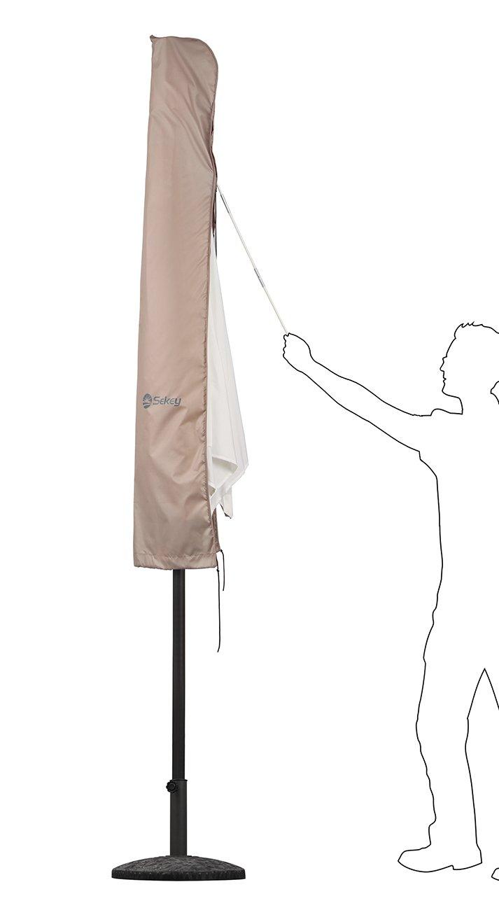 200 cm /× 150 cm Taupe Sekey/® Ombrellone Copertura per /Ø 200 cm 200 cm /× 125 cm Ombrelloni Poliestere
