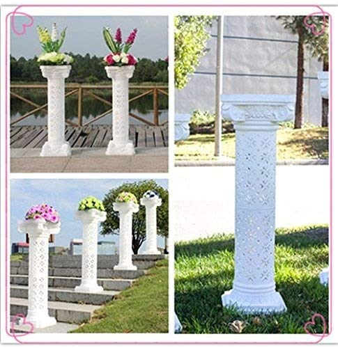 2pcs Height Adjustable Plastic Roman Column photography prop Wedding Decorative by backdropday