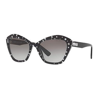 Miu Miu - Gafas de sol - para mujer Negro Nero Con Stampe A ...