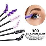 300 Pcs Disposable Mascara Wands, Teenitor Eyelash