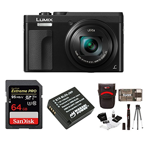 Panasonic DC-ZS70K Lumix 20.3MP, 4K Touch Enabled 3″ LCD, 180 Degree Flip-Front Display, 30x Lens 64GB Bundle