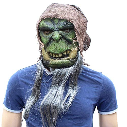 Wetietir Festival Mask Halloween Festival Party Supplies Movie World of Warcraft Peripheral Latex Mask mask Costume -