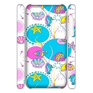 Iphone 5C Sea creatures 3D Art Print Design Phone Back Case Custom Hard Shell Protection MN102083