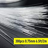 GIDERWEL RGBW LED Fiber Optic Cable,6.5ft 300pcs