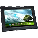 Asus Transformer TF700 (2012) Black Shock Drop Hard Candy Cases Silicone Rugged Shock Absorbing Protective Dual Layer Cover Case