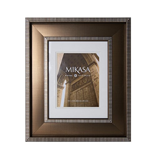 Mikasa 5157437 Striped Border 8x10-Inch Picture Frame, 18-inch-by-21-Inch
