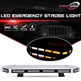 low profile cab lights - TERRAIN VISION 56 LED 27 Inch Amber White Emergency Warning Strobe Lights Flash Directional Roof Top Led Light Bar for Snow Plow Truck Mail Carrier Pickup Truck Jeep Dodge Ram RZR SUV Silverado Ford