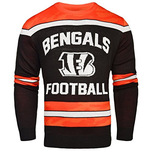 Cincinnati Bengals Ugly Glow In The Dark Sweater - Mens - Mens Medium by FOCO