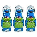 La Bella, 3 in 1 Ninos Shampoo Conditioner & Body Wash, 14 oz, Pack of 3