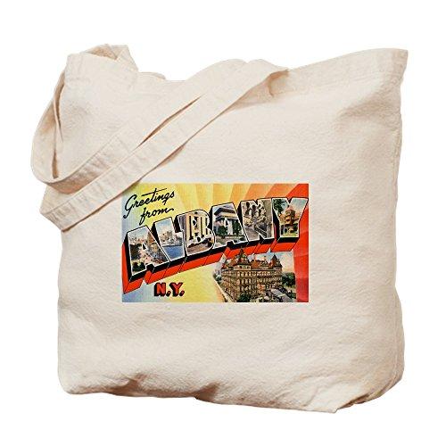 CafePress - Albany New York Greetings - Natural Canvas Tote Bag, Cloth Shopping - Shopping Ny Albany