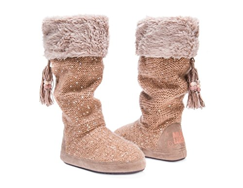 Muk Luks Womens Winona Slipper Tan