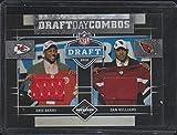 2010 Panini Limited Eric Berry/Dan Williams 9/75 Dual Draft Day Jerseys Football Card #2