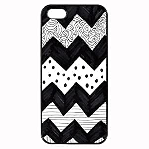 CHEVRON BLACK AND WHITE DOODLE Pattern Image Protective iphone ipod touch4 / iPhone 5 Case Cover Hard Plastic Case For iPhone ipod touch4