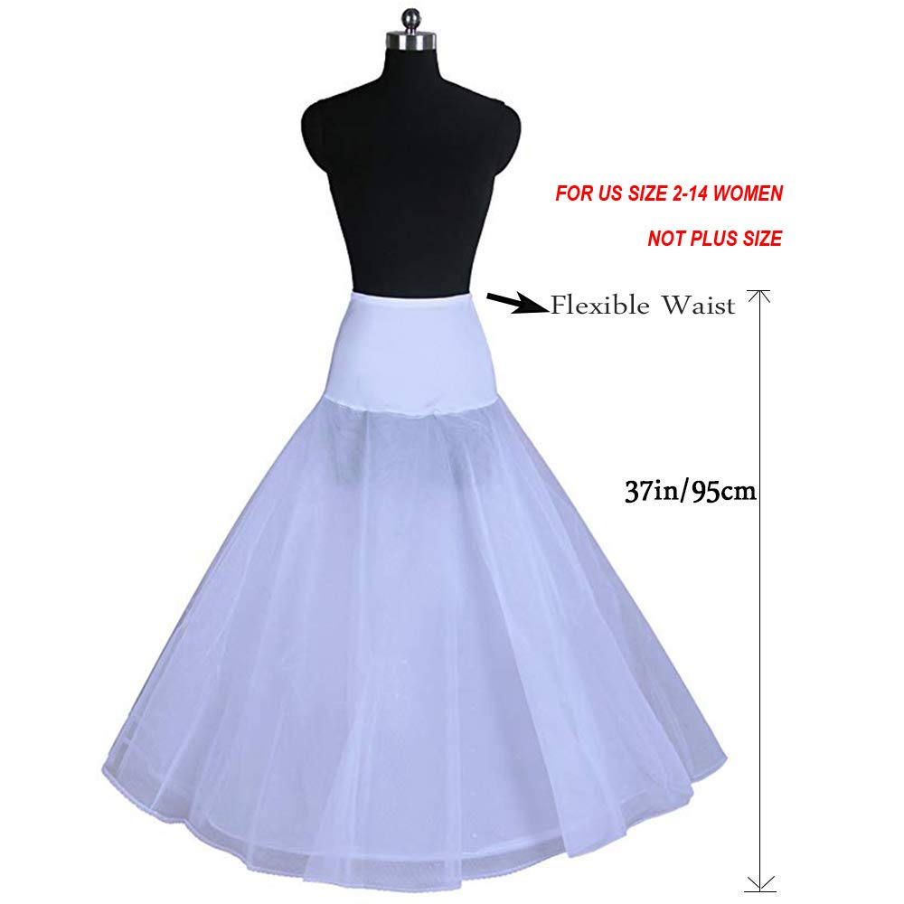 AnDream A-line Petticoats for Women Full Length Slips for Bridal Dress Underskirt Crinoline Wedding Accessories PT01